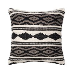 Casually comfortable with a retro vibe, the Halden Throw Pillow is a fabulous way to bring texture and pattern to your sofa or a favorite armchair. Shades of dark and light gray combine with white to c...  Find the Halden Throw Pillow, as seen in the A Stay at the Landsby Collection at http://dotandbo.com/collections/a-stay-at-the-landsby?utm_source=pinterest&utm_medium=organic&db_sku=113473