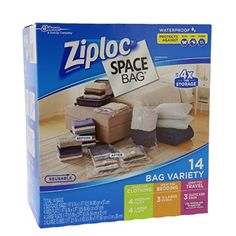 Ziploc Space Bag 14 Bag Variety  14pc 4M 4L 3XL Cubes 3Trvl -- Check out the image by visiting the link.