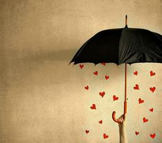 Umbrella filled with love
