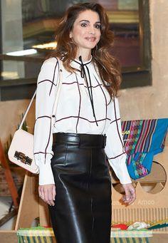 Queen Rania visits Prado Media Lab Cultural Center. Nov 19, 2015.