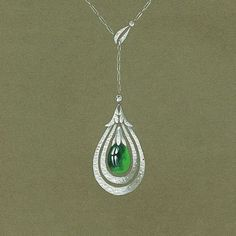 Chaumet, simple and classic but so beautiful. #jewelry #jewelrydesigner #jewelrydesign #emerald #jewelryrendering