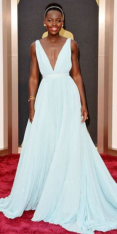 Lupita Nyong'o Prada Oscars gown - congrats and thanks for the inspiring speech, dress, and reminding the world everyone's dream is valid.
