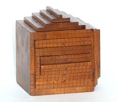 Wooden model illustrating Haüy's laws of decrement Thinking In Pictures, Mineralogy, Home Rugs, Pattern Art, Kilim Rugs, Decorative Boxes, Objects, Sculpture, Wood