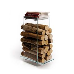 Creative firewood stand by Design - Decoration Top Firewood Stand, Firewood Holder, Firewood Logs, Firewood Storage, Modern Fireplace Tools, Fireplace Logs, Fireplaces, Ak47, Log Holder
