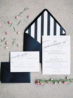 Bold stripe paper suite: http://www.stylemepretty.com/2015/09/16/modern-austin-garden-party-wedding/ | Photography: Jen Dillender - http://jendillenderphotography.com/wp1/