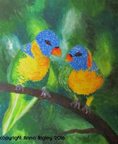 Anna Rigley - Home Parrot, Anna, Bird, Artist, Animals, Parrot Bird, Animales, Animaux, Birds