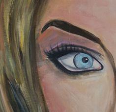 Close-Up Scandinavian Woman, 70x50 cm, acrylverf op canvas