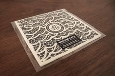 Silkscreen printed album designed for Acoustic Thoughts and illustrated by Javier de Riba.