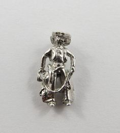Cowboy Sterling Silver Vintage Charm For Bracelet by SilverHillz