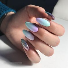 Manicure for Long Nails Fashion Innovations in the Design for Long Nails, Trends and Ideas New Years Nail Designs, Classy Nail Designs, Nail Art Designs, Nails Design, Classy Nails, Simple Nails, Holographic Nails, Gradient Nails, Matte Nails