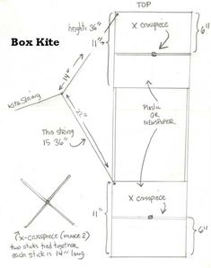 This is an easy step by step tutorial on how to make a box kite. I include the printout and all the dimensions. Toy Craft, Craft Gifts, Kite Building, Box Kite, Kite Making, Kite Designs, Stunt Kite, Go Fly A Kite, Science Classroom