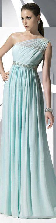Evening dress #oneshoulder #long #formal #dress