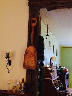 Primitive shovel... Shovel, Antique Items, Candle Sconces, Beams, Primitive, Wall Lights, Candles, Rustic, Decorating