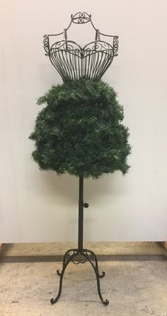 """""""Adorn It Yourself"""" Dress Form Christmas Tree: Pine Garland Attached – Mannequin Madness"""