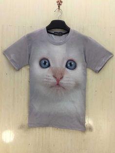 dbc2e9d92a02 Men   s t shirt animais cão bonito panda cat lobo impressão 3D Galaxy  camisetas Harajuku realistas