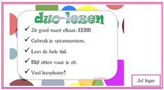 duo-lezen - juf Inger Bao, Spelling, Reading, School, Reading Books, Games