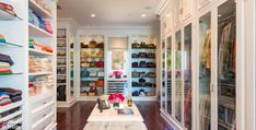 Closet space: The home includes plenty of room for handbags, shoes and clothes