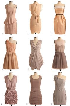vintage bridesmaid dresses - Google Search - i love #'s 2. 3. 5. 7. and 8 :) as of right now... possilbe bridemaids dress... i think so!