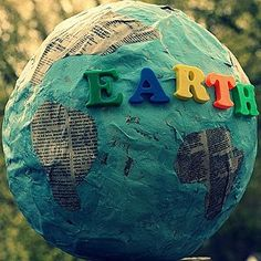 Earth Day Papier Mache Globe | AllFreeKidsCrafts.com