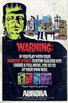 1971 Aurora Frankenstein Ad Page ~ Dr Vampirella Deadly Victim