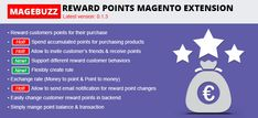Reward Points Magento Extension is the most useful extension, which allows shop owners to increase customer's loyalty by rewarding their customers' points for their purchase. http://cmsmart.net/magento-extensions/mb-magento-reward-points-extension