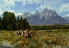 In The Valley Of The Grand Tetons By Paul Calle