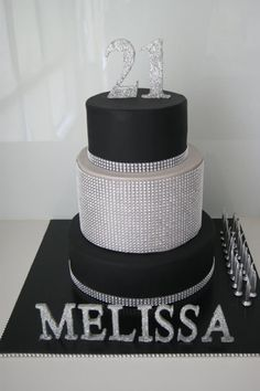 Little Big Company | The Blog: A Black and Silver Themed 21st Birthday by Cakes Mary Makes