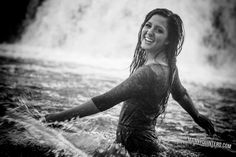 Portrait photography in the water