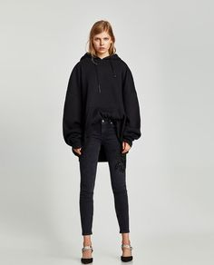 ZARA - DONA - JEANS THE SKINNY WITH PATCHES