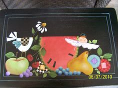 Old bench , painted by Bonnie...pattern by SharaReiner