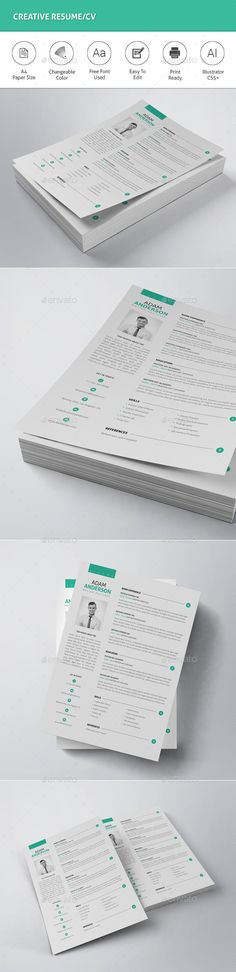 Job Resume Job resume, Template and Business cards - photography resume template