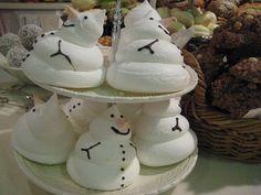 Meringue Snowmen by cederoth, via Flickr
