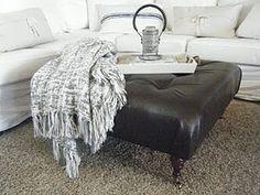 Homemade Copycat Designer Ottoman
