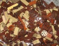 Bulk Brown Lego's Lot 1lb 5oz