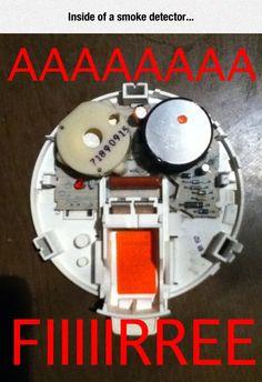 Inside of a smoke detector