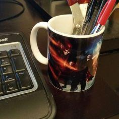 DC Comics Arrow and Flash TV Super Hero Fight Club Mug Pen Holder
