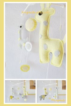 Baby Crib Mobile - Elephant Mobile - Nursery Mobile - Giraffe And Elephant…