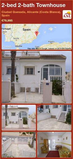 2-bed 2-bath Townhouse in Ciudad Quesada, Alicante (Costa Blanca), Spain ►€79,995 #PropertyForSaleInSpain