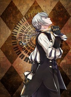 Such a ravishing butler. And it's kind of funny of how my first marriage was him... (akward)