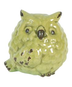 Yellow Owl Figurine by A&B Home #zulily