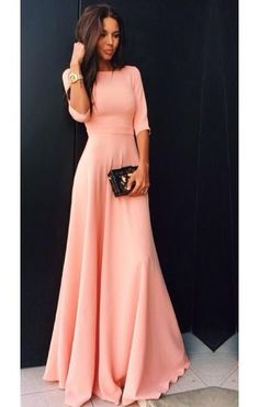Cheap dress up gown, Buy Quality gowns white directly from China dress long sleeve tunic dress Suppliers: Fast Shipping Pink Half Sleeve Evening Dresses Long Floor Length Satin Cheap Evening Gowns Elegant Women Formal Dress Maxi Dress With Sleeves, Dress Skirt, Half Sleeves, Half Sleeve Dresses, Prom Dresses Long With Sleeves, Gown Dress, Pretty Dresses, Beautiful Dresses, Awesome Dresses