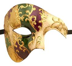 Luxury Mask Men's Phantom Of The Opera Half Face Masquerade Mask Vintage Design, Purple/Green/Gold/Mardi Gras, One Size Luxury Mask http://www.amazon.com/dp/B00Y8ABE1M/ref=cm_sw_r_pi_dp_06vdxb0EH55Z5