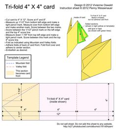 Card Templates :: Tri-fold 4X4 card image by d0npen - Photobucket