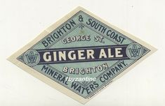 Rare early Mineral water label for (never seen before) & Water company Street works Lovely quality Early# Label circa Printed by E & co 191 looks circa Vintage Labels, Vintage Ephemera, Vintage Ads, Bottle Labels, Beer Labels, Old Ale, British Beer, Water Company, Rare Crystal