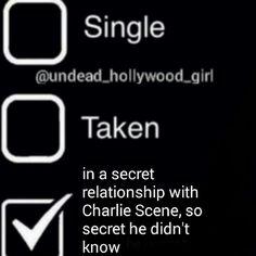 "HU4L ❤ on Instagram: ""Hmm? Oh this.. yeah not at all XP #secretrelationship #charliescene #jordanterrel #hu #hollywoodundead hollywoodlandmag liked"""