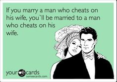 EXACTLY...now he's her problem.  Feel unsure, unable to trust, wondering if...he cheated with me is he cheating on me?  Enjoy Robin you wanted him, you got him.  The end!