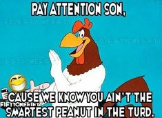 just luv Foghorn ya listening tRump ⁉️ Funny Adult Memes, Funny Cartoons, Funny Jokes, Hilarious, Funny Facts, Foghorn Leghorn Quotes, Gallo Claudio, Looney Tunes Funny, Funny Images