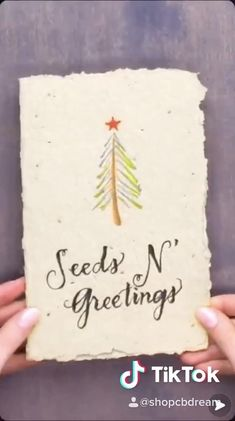 Cute Christmas Gifts, Funny Christmas Cards, Christmas Crafts, Make Business Cards, Seed Paper, Flower Cards, Creative Crafts, Diy Cards, Homemade Cards