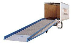 36' Steel Truck Loading Yard Ramps 16,000 Lbs. Capacity Yard ramps are critical pieces of loading dock equipment in any warehouse or factory that lacks an elevated loading dock.  They allow work crews to bridge the gap between the building and the trailer and quickly move supplies off the truck by forklifts.   Yard Ramps. Portable, Aluminum, Mobile & Steel Loading Dock Ramps Made In The USA. Yard ramps are loading dock ramps that allow forklifts to enter shipping containers or trucks.
