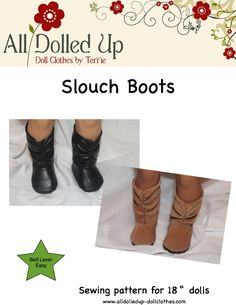 "New pattern for 18"" dolls by All Dolled Up Doll Clothes www.alldolledup-dollclothes.com"